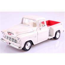 Motor Max 1:24 1955 Chevy 5100 Stepside (Beyaz) Model Araba
