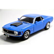 1:24 1970 Ford Mustang Boss 429 (Mavi) Motormax Model Araba