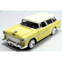 1955 Chevy Bel Air Nomad (Sarı) Motor Max 1:24 Model Araba