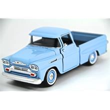 Motor Max 1:24 1958 Chevy Apache Fleetside Pickup (Mavi) Model Araba