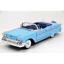 Motor Max 1:24 1958 Model Chevy Impala (Mavi)