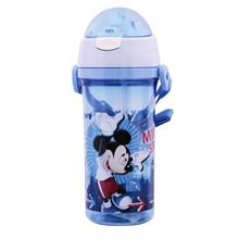 Mickey Mouse Pipetli Şeffaf Matara / Suluk (500 ml)