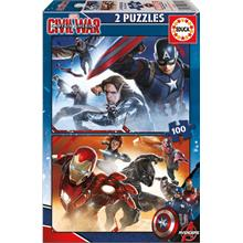 Educa 16697 - 2x100 Parça Captain America: Civil Wars Puzzle