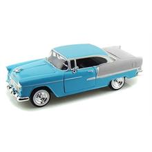 1955 Chevy Bel Air (Mavi) Motor Max 1:24 Model Araba