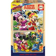 Educa 2x16 Parça Mickey And The Roadster Racers Ahşap Puzzle