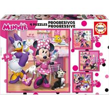 Educa 17630 Minnie Happy Helpers 12+16+20+25 Parça Puzzle
