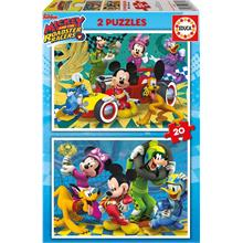 Educa 17631 Mickey Roadster Racers 2x20 Parça Puzzle