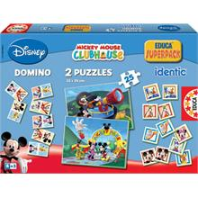Educa 2x25 Yapboz Disney Mickey Mouse Club House Hafıza Oyunu Domino